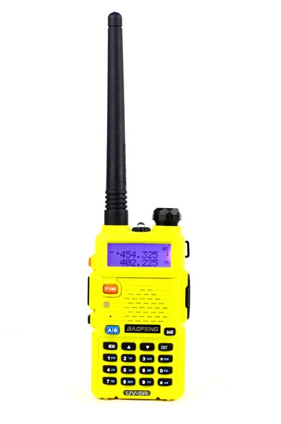 Baofeng UV-5R (Yellow) handheld walkie-talkie
